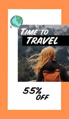 История путешествия на оранжевом фоне с фото и описанием 55%